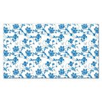 Wedding Place Card Place Card Sunflower Blue Damask Back