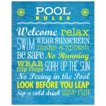 Rules for the Pool 8x10 Art Print