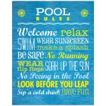 Rules for the Pool 11x14 Art Print
