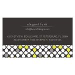 Pop Art Pattern Yellow and Grey Business Card