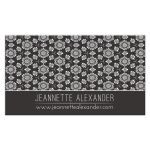 White Rosettes on Brown Business Card