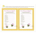 Bumble Bee Girl Pink Wings Price is Right Baby Shower Game