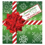 Great personalized Christmas Holiday Wine Bottle Beverage Label
