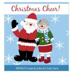 Christmas Cheer Santa Claus Wine Bottle Labels