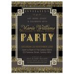 Stylish Gatsby Bridal Shower Customizable Invitation