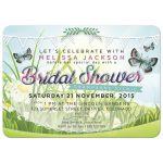 Summer Garden Butterfly Bridal Shower invite