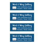 Social media app Bar Mitzvah return address mailing labels