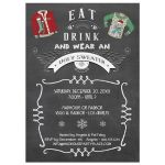 Eat Drink and Wear an Ugly Sweater Party Invitation