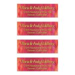 Red Orange Gold Far East Bollywood Bat Mitzvah Mailing Labels