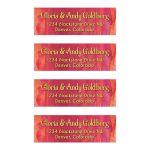 Red Orange Gold Far East Bollywood Bat Mitzvah Mailing Labels
