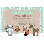 Winter Woodland Neutral Baby Shower Invitation