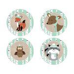 Winter Woodland Neutral 2-inch favor stickers | envelope seals