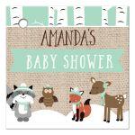 Winter Woodland Animals Baby Shower Gift Tag - Neutral