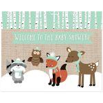 Winter Woodland Baby Shower Customized Sign Decoration