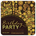 Sparkle Grunge Adult Birthday Party Invitation