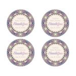 Glittery Pink Blue Round Stickers
