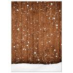 Rustic Winter Snow Chalkboard Frame Bridal Wedding Shower Invitation