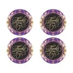 Thank You Favor Stickers | Pink Purple Gold