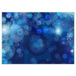 Snowflake Blue Bokeh Winter Wedding Reply RSVP Card