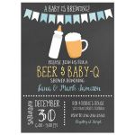 Baby is Brewing BBQ Baby Shower Invitation (Boy)