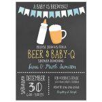 Baby is Brewing BBQ Baby Shower Invitation (Boy)