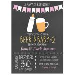 Baby is Brewing BBQ Baby Shower Invitation (Girl))