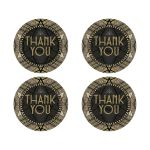 ArtDeco Glamour Gatsby Thank You Stickers