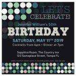 Adult Birthday | Modern Bokeh Polka Dots Party Invitation