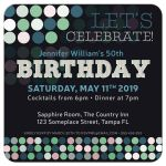 Adult Birthday | Modern Bokeh Polka Dots Party Invitation