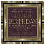 Timeless Elegance adult birthday invitation