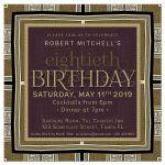 Timeless Elegance adult birthday invitation