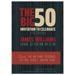 The Big 50 Birthday Party Invite
