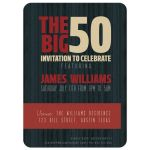 The Big 50 Birthday Party Invite