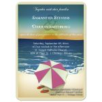 Adorable Flip Flops Informal Beach Wedding Invitation