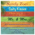 Sandy Toes Salty Kisses Tropical Wedding Invitation