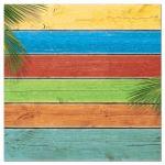 Sandy Toes Salty Kisses Colorful Beach Wedding Invitation