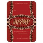 Unique Funky Red Retro RSVP Acceptance Card