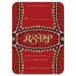 Unique Funky Red Retro RSVP Acceptance Card