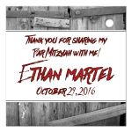 Personalized zombie theme thank you favor tag.