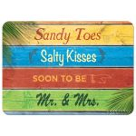 Colorful Sandy Toes Salty Kisses Couple's Shower Invitation