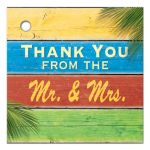 Colorful Sandy Toes Salty Kisses Thank You Favor Tag
