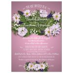 Floral Bouquet on Pink Bridal Wedding Shower Invitation