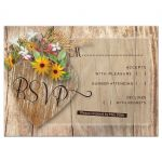 Rustic Timber Heart RSVP