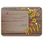 Rustic Floral Wedding RSVP Card