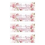 Elegant pink and burgundy orchid flower personalized wedding address mailing labels