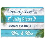 Sandy Toes Salty Kisses soon to be Mr. & Mrs. Couple's Shower Invitation