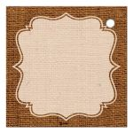 Best rustic orange and purple burlap autumn leaves wedding favor tag with twine bow.