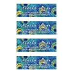 Watercolor peacock feather personalized wedding address labels