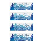 Royal blue and turquoise watercolor mountain personalized wedding address labels