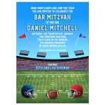 Football Stadium Gridiron Bar Mitzvah Invitation